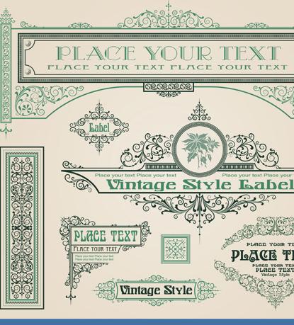 Vintage Hearts Vector Vintage Style Vector of Frame