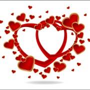 Link toGold romantic love hearts vector art