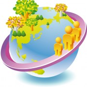 Link toThink green earth design elements vector 04