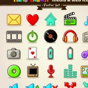 Link toDifferent hand drawn retro icons vector graphic 01