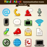 Link toDifferent hand drawn retro icons vector graphic 06