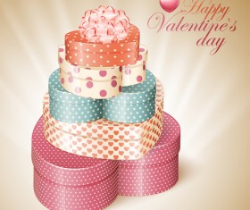 Happy Valentine day cards design elements vector 01