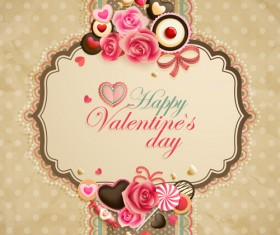 Happy Valentine day cards design elements vector 02