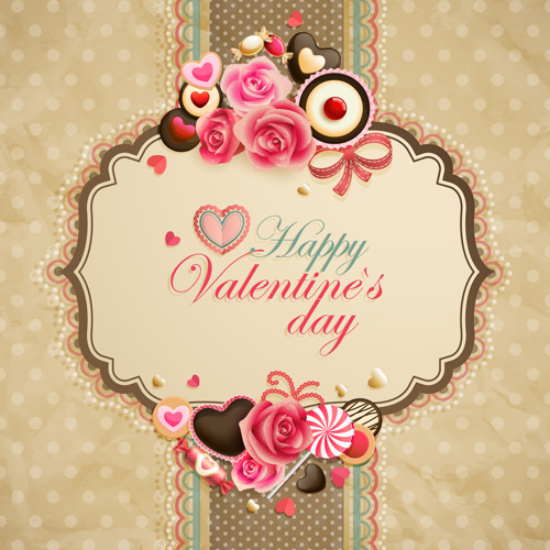 Happy Valentine day cards design elements vector 02 Vector Card – Happy Valentines Day Cards