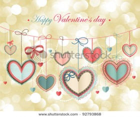 Happy Valentine day cards design elements vector 04