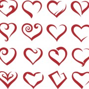 Link toDifferent heart icons design vector set 04