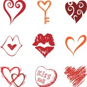 Link toDifferent heart icons design vector set 05
