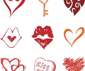 Different Heart icons design vector set 05