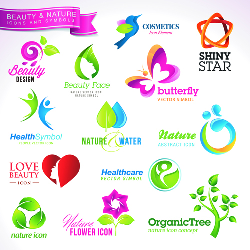 Different industries Icons and Symbols vector 01