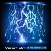 Link toSet of lightning flash elements background vector 02