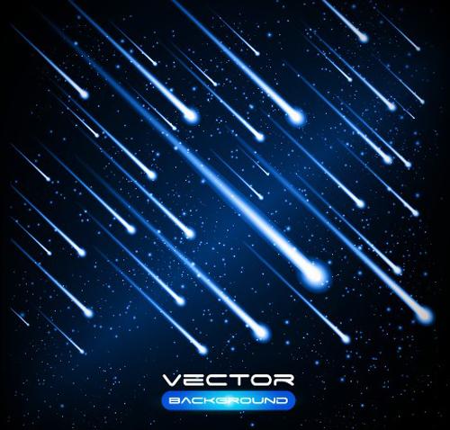 Set of Lightning flash elements background vector 03