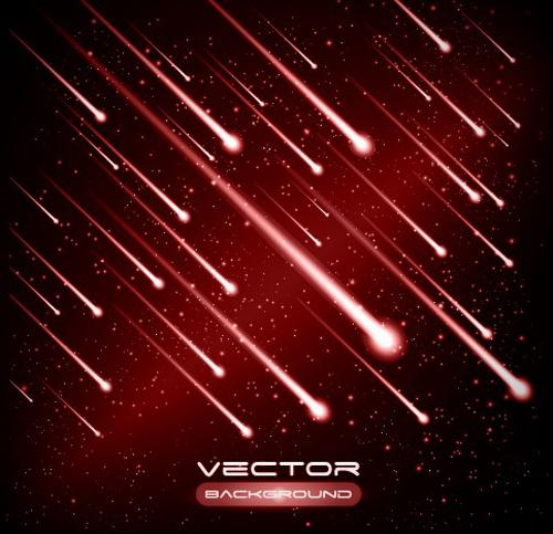 Set of Lightning flash elements background vector 04