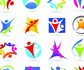 Sport elements logo and icon vector 04