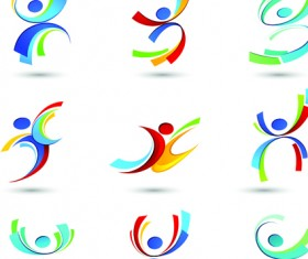 Sport elements logo and icon vector 05