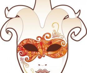 Mask with Masquerade design vector 01