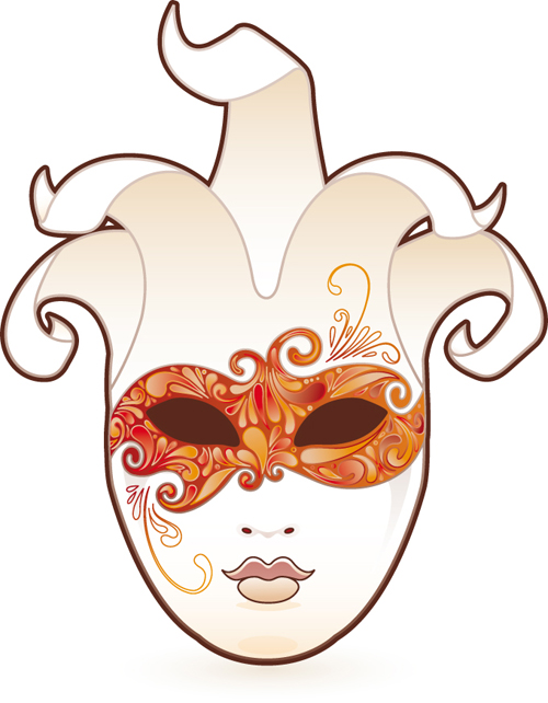 Mask with Masquerade design vector 01