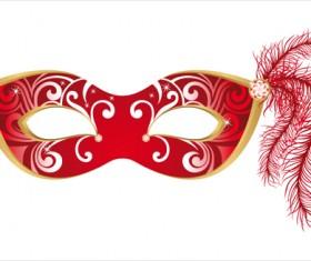 Mask with Masquerade design vector 03