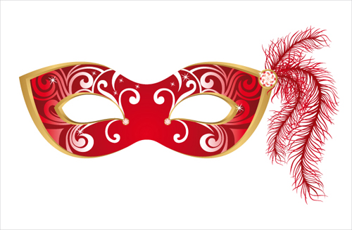 Mask with Masquerade design vector 03