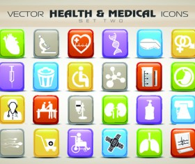 Set of Different Medical icons vector 01