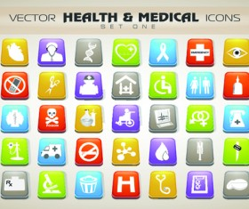 Set of Different Medical icons vector 02