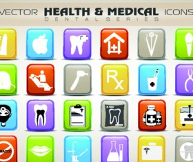 Set of Different Medical icons vector 04