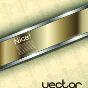 Link toLuxurious metallic chrome background vector set 01