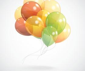 Multicolored balloon background design vector 01