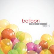 Link toMulticolored balloon background design vector 03