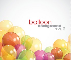 Multicolored balloon background design vector 03