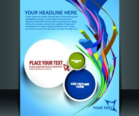 Elements of Poster and magazine cover design vector 02