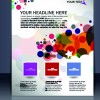 Elements of Poster and magazine cover design vector 03