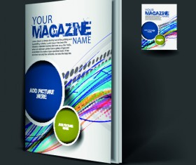 Elements of Poster and magazine cover design vector 04