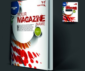 Elements of Poster and magazine cover design vector 07