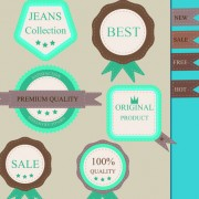 Link toSet of guaranty quality and premium labels vector 01