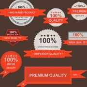 Link toSet of guaranty quality and premium labels vector 03