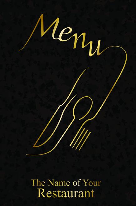 classic restaurant menu covers design elements vector 05