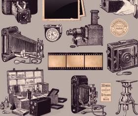 Retro Camera design elements vector