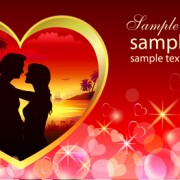 Link toRomantic valentine day theme background vector 03