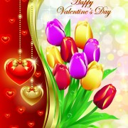 Link toRomantic valentine day theme background vector 04
