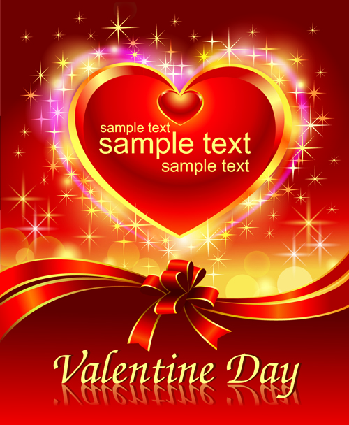 Romantic Valentine Day Theme Background Vector 05 Free Download