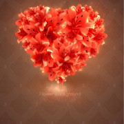 Link toRomantic heart cards vector background set 02