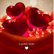 Link toRomantic heart cards vector background set 03