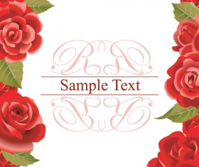 Bright Rose background vector 01