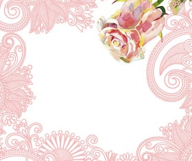 Bright Rose background vector 02