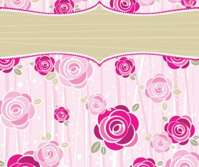 Bright Rose background vector 03