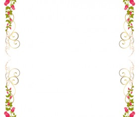 Bright Rose background vector 04