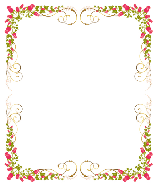 Bright Rose Background Vector 04 Background Frames amp Borders Free Download