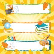 Link toSchool style vector backgrounds set 01