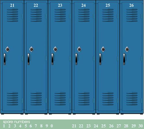 School style vector backgrounds set 02