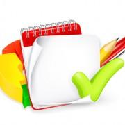 Link toSchool elements and paper design vector 01
